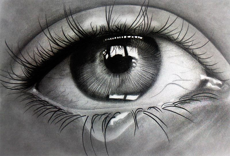 Crying Eye Pencils On Paper By F A D I L On Deviantart