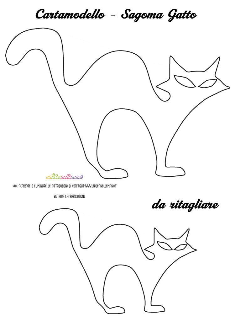 Sagome Gatto Da Stampare Colorare E Ritagliare Kot