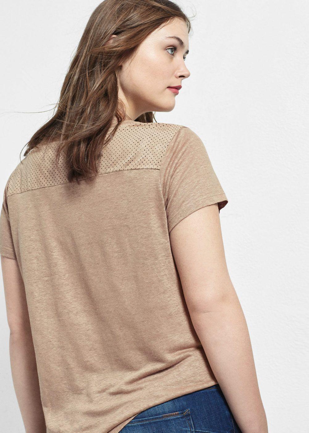 T-shirt perforé combiné