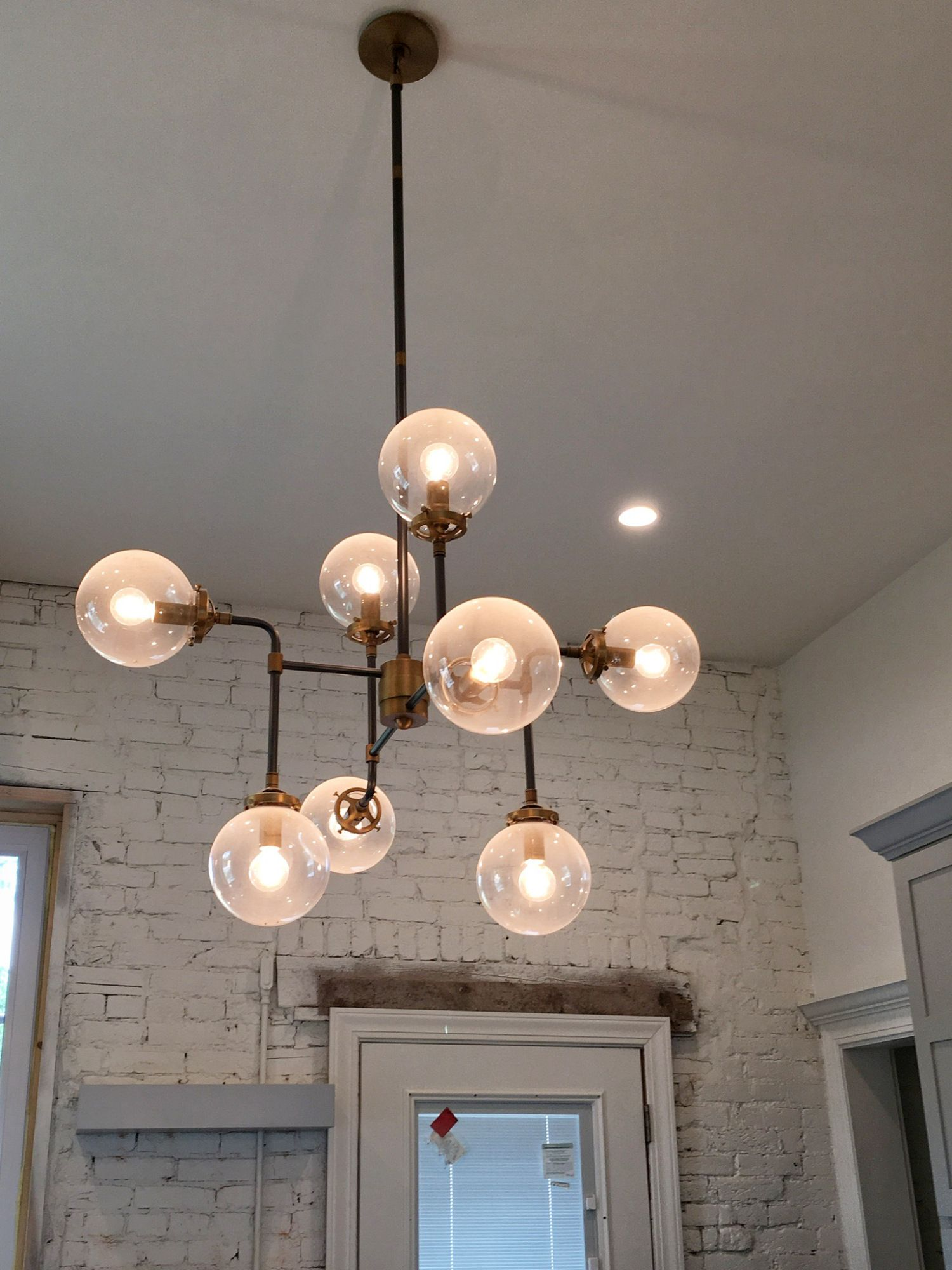 Bistro Globe Chandelier From Restoration Hardware Lightfixtures Offcenterrevival Oldhouse Homerenovation Fixerupper Italianate Victorian