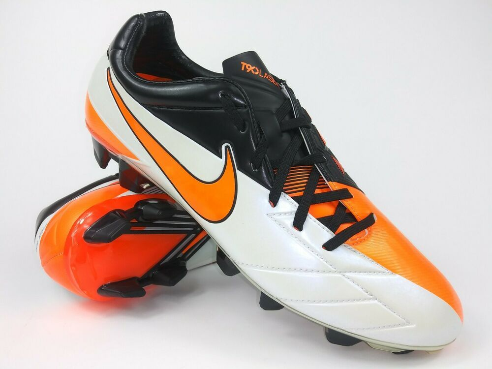 d4f1fcfb6c4 eBay  Sponsored Nike Mens Rare T90 Laser IV FG 472552 180 White Black  Soccer Cleats