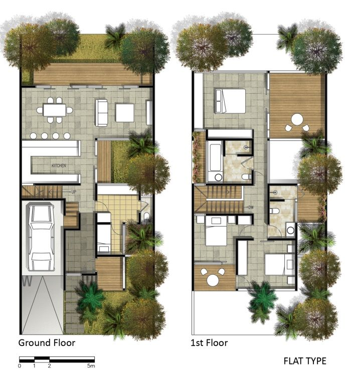 Projects By Fajar Aditya At Coroflot Com Architectural Floor Plans Narrow House Plans Architecture House