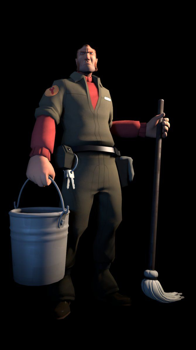 Sfm Janitor By Sharpe Fan Deviantart Com On Deviantart Team