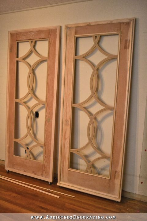 Oh What A Difference Some Trim Makes Doors Shutters Cabinet Door Styles Decorative Mouldings Diy Door