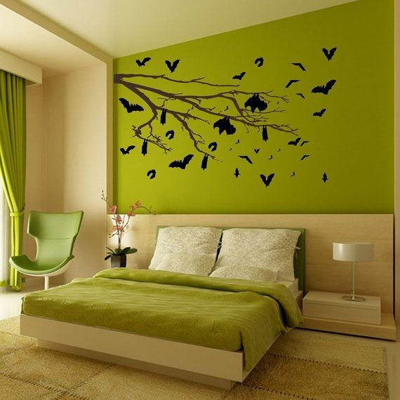 The Bat's Tree Vinyl Wall ArtChoose any color Living
