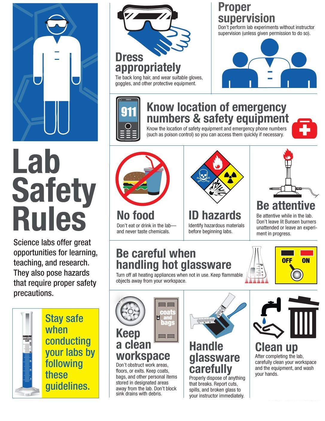 The Image Will Help You To Know What Lab Safety Rules Are