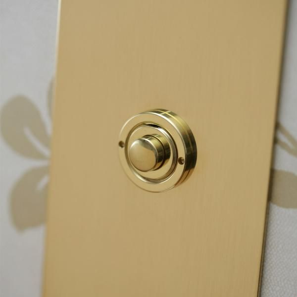 USA - Unlacquered Brass Push Button