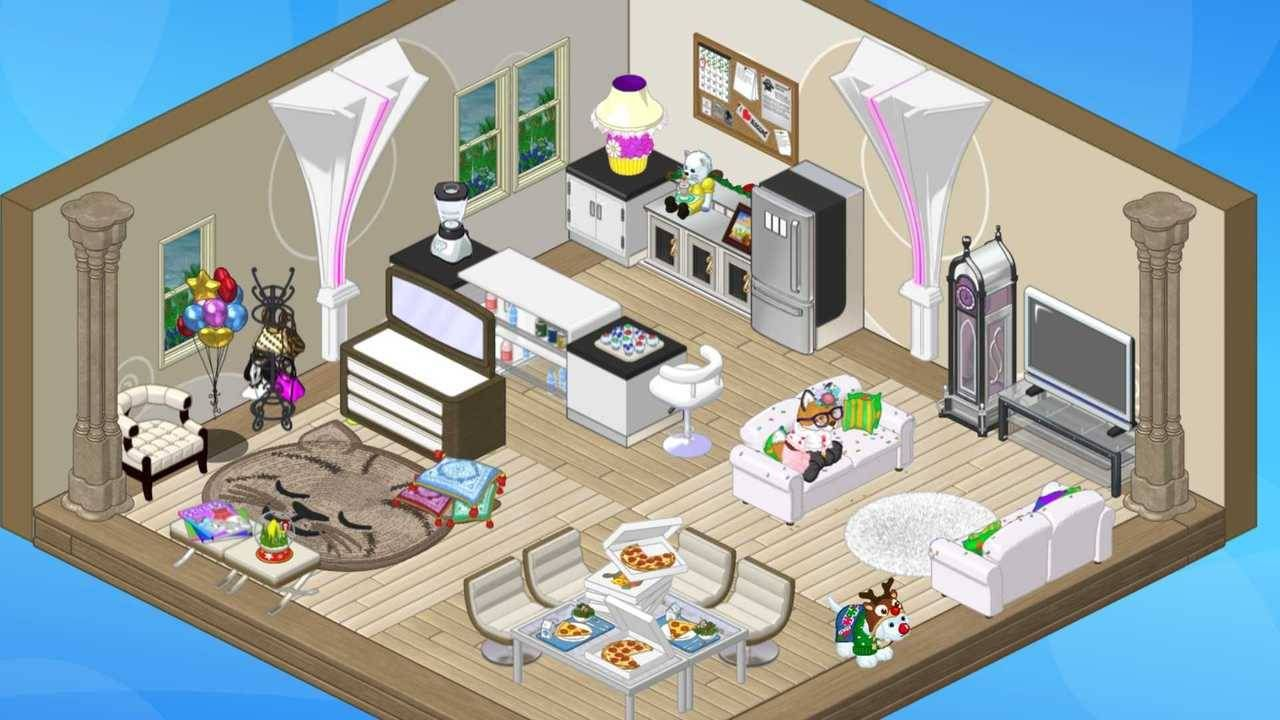 My Pizza Party Room I Had A Lot Of Fun Designing It Unfortunatly