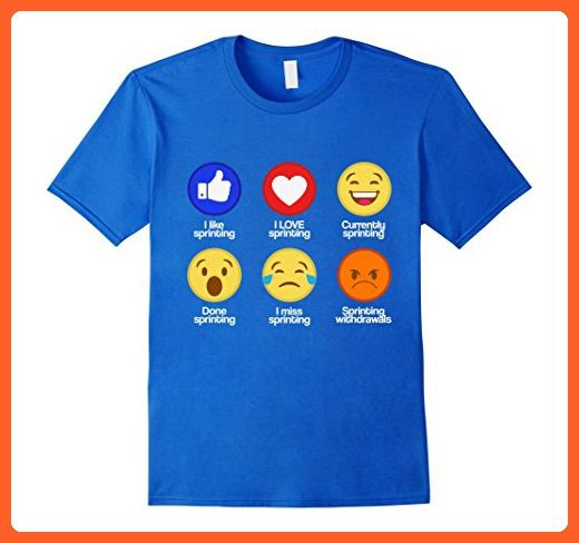 Mens Stages Of Track And Field Sprint Emoji Funny Sprinting Tee Large Royal Blue Sports Shirts Partn Funny Basketball Shirts Sports Shirts Basketball Funny