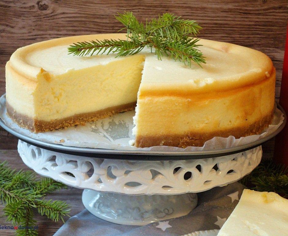 Przepis Kremowy Sernik Z Wanilia Recipe Cheesecake Desserts Food