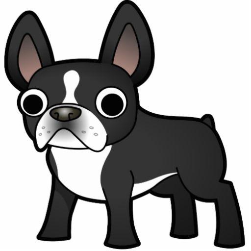 Cartoon French Bulldog Black And White Statuette Zazzle Com