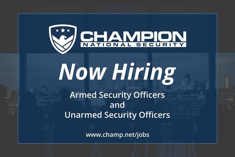 Security Guard Jobs We're Hiring Armed & Unarmed