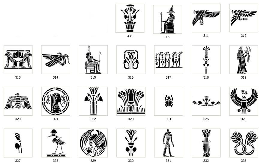 Egyptian Symbol Stencils When Ordering The Images Below Use The