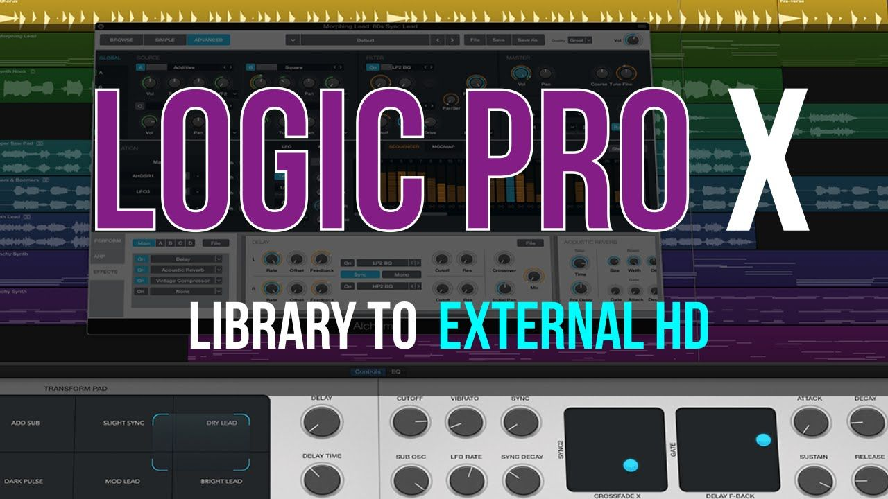 Best way to move logic pro x sound libraries to external