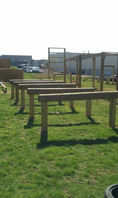 16 marine-style obstacle course   Backyard obstacle course ...
