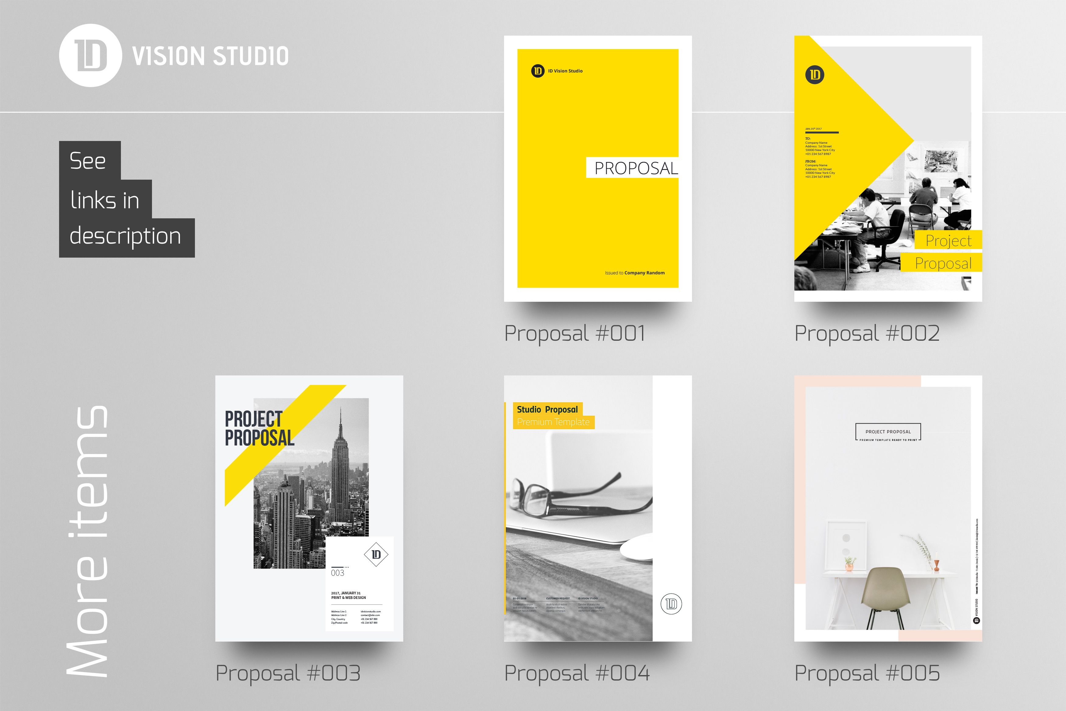 proposal report template%0A Proposal Template     by ID Vision Studio on  creativemarket