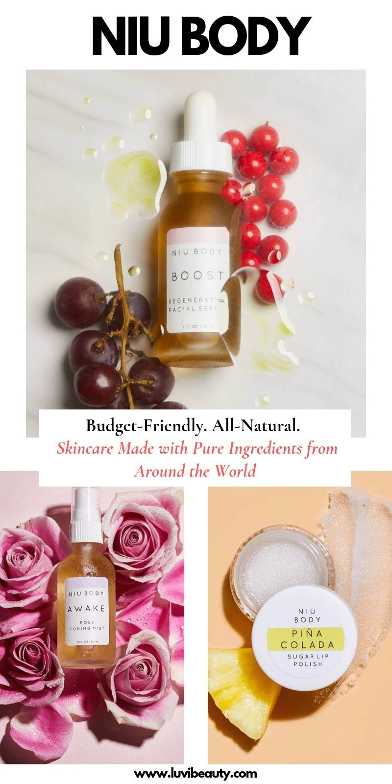 NIU BODY SKINCARE. Natural skincare that fits any budget