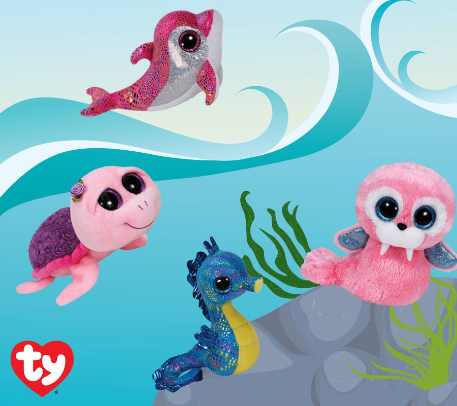 You can play with all these underwater Beanie Boos in the