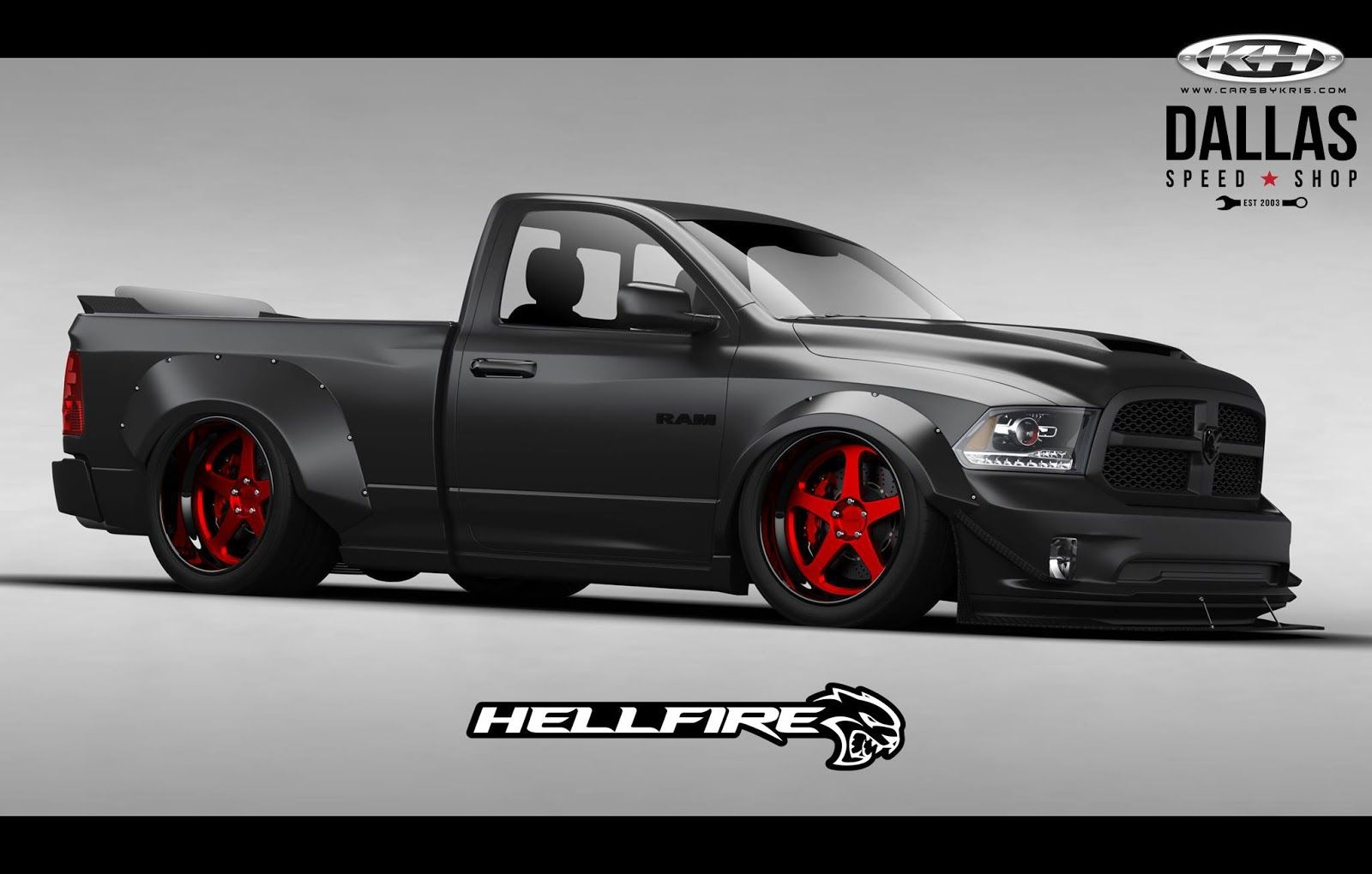Hellcat Powered Ram Pickup With 775hp Ready To Burn It Up At Sema Carscoops Muscle Truck Dodge Ram Hellcat