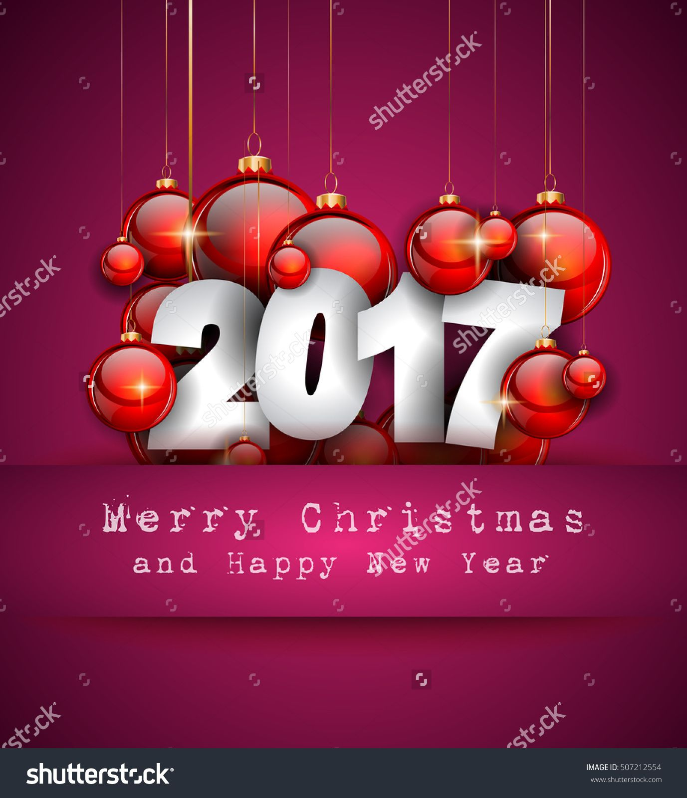 2017 Happy New Year Background For Your Seasonal Flyers And