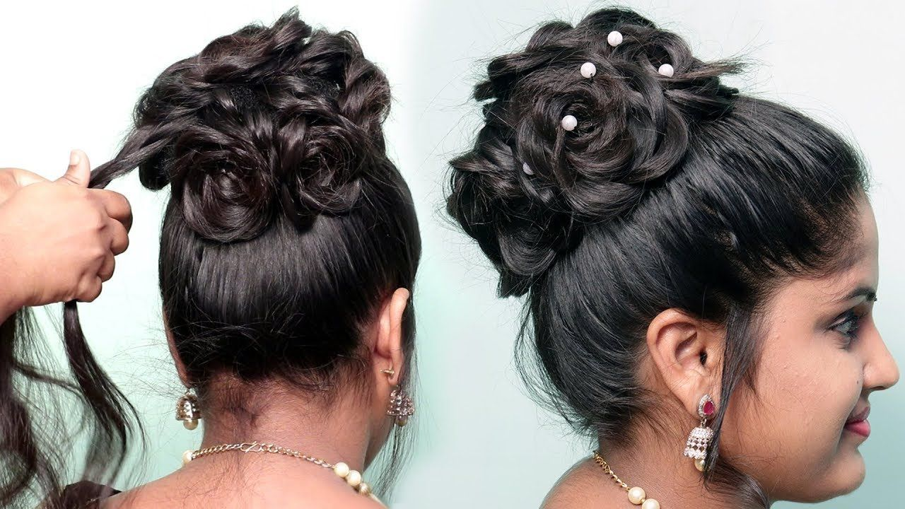 Stylish Hair Style Classic With Donut Bun Quick Easy Juda Hairstyles Hairstyles Juda Everyday Hairstyles Stylish Hair