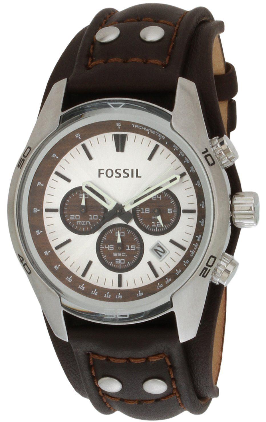 f73f9de6c Fossil CH2565 - Reloj analógico de cuarzo para hombre con correa de piel,  color marrón: Fossil: Amazon.es: Relojes