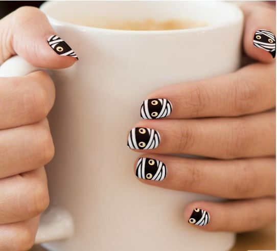 Halloween Fingernails Cool Mummy Decor Minx Nail Wraps | Zazzle.com