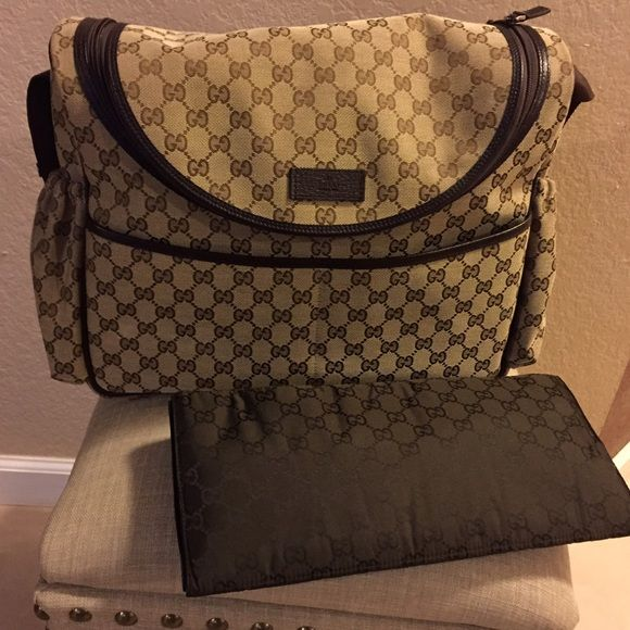 a47cd6a2ad0 Gucci diaper bag Gucci pink diaper bag. Regular price is  1100. Includes  dust bag and changing pad. Gucci Bags Baby Bags