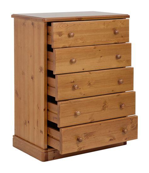 Cassettiera rustica in legno massello di pino di svezia proposto in finitura miele www - Mobili in pino di svezia ...