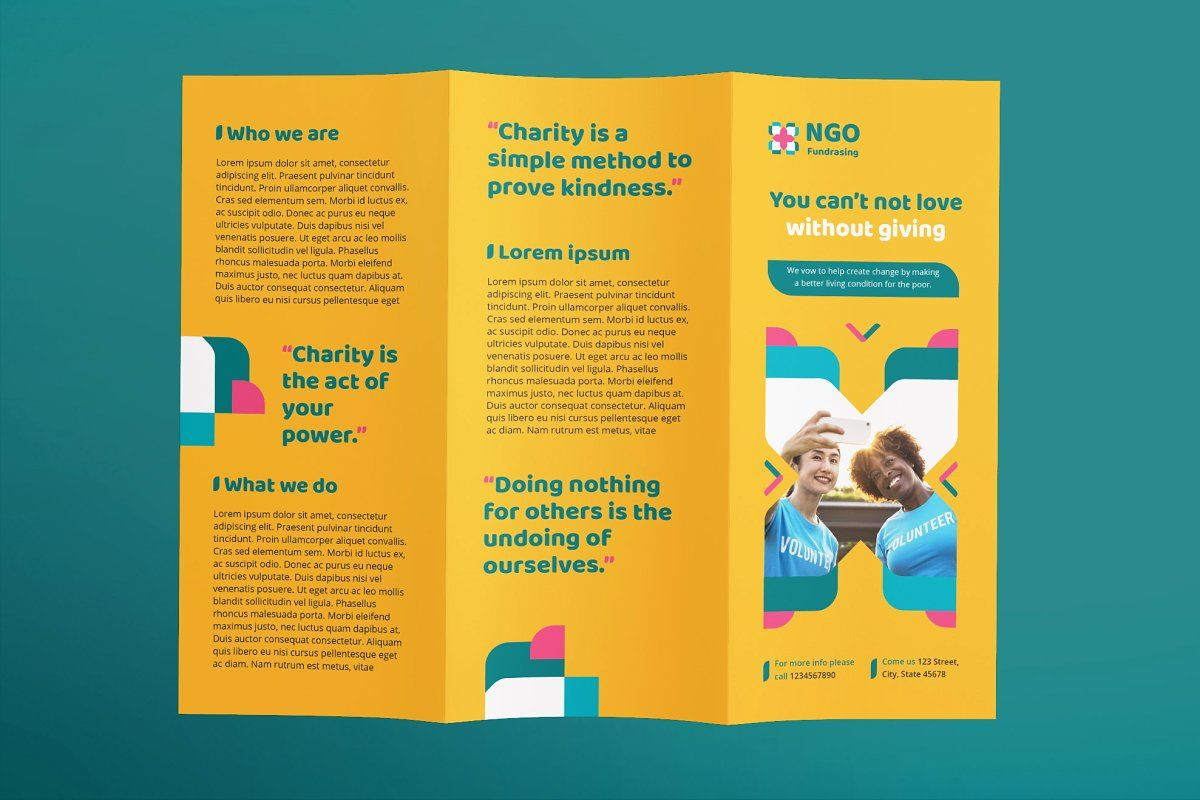 Brochure Content For Ngo - brochure background artistic Pertaining To Ngo Brochure Templates
