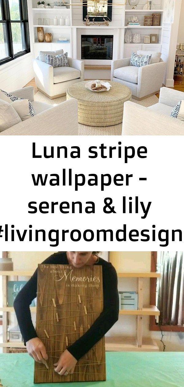 Photo of Luna stripe wallpaper – serena & lily #livingroomdesigns 1
