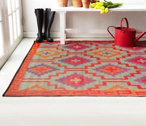 "Lhasa Orange & Violet Color Outdoor & Indoor Rugs - Many Sizes, Recycle Green (38.00 FOR SMALLEST SIZE---ALSO A FAB RUG FROM EBAY SELLER ""ARUSTICGARDEN"""