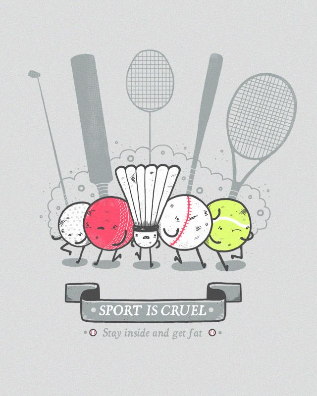 Sport Is Cruel By Randyotter On Deviantart Graphic Design Humor Cute Drawings Otter Illustration