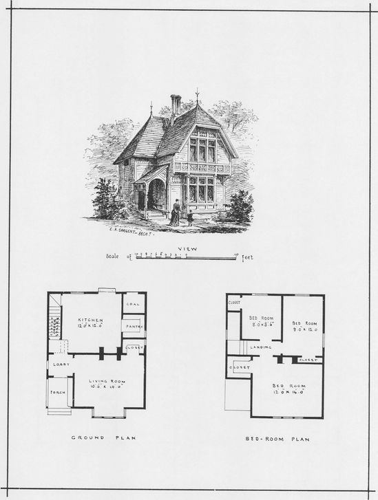 Victorian Wooden and Brick Houses with Details (Dover