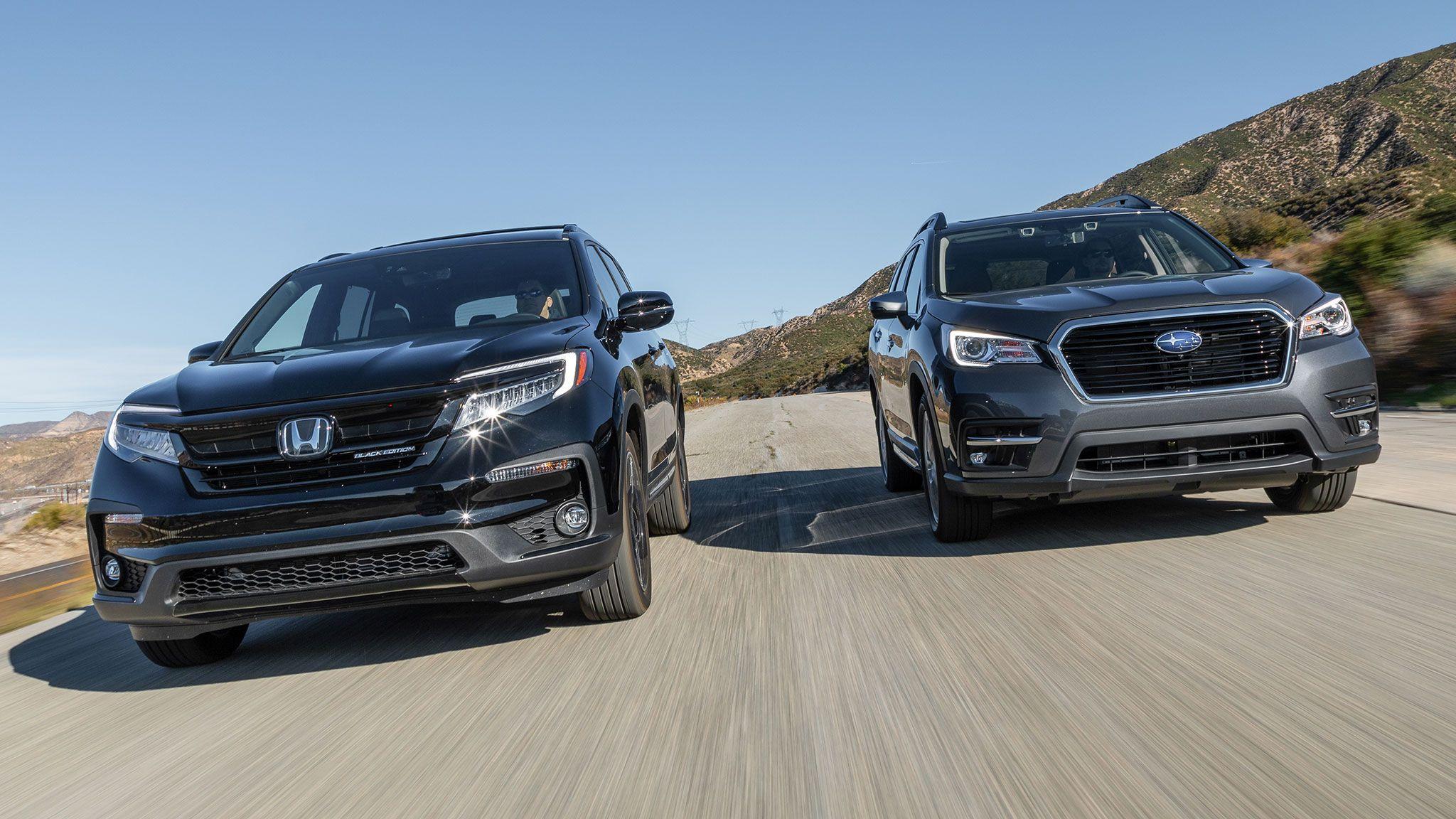 2020 Subaru Ascent Vs 2020 Honda Pilot 3 Row Suv Comparison Honda Pilot Suv Comparison 3rd Row Suv