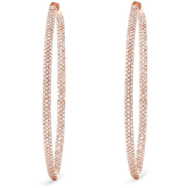 Effy Jewelry 14k Rose Gold 2 Diamond Hoop Earrings 1 91 Tcw 4 843