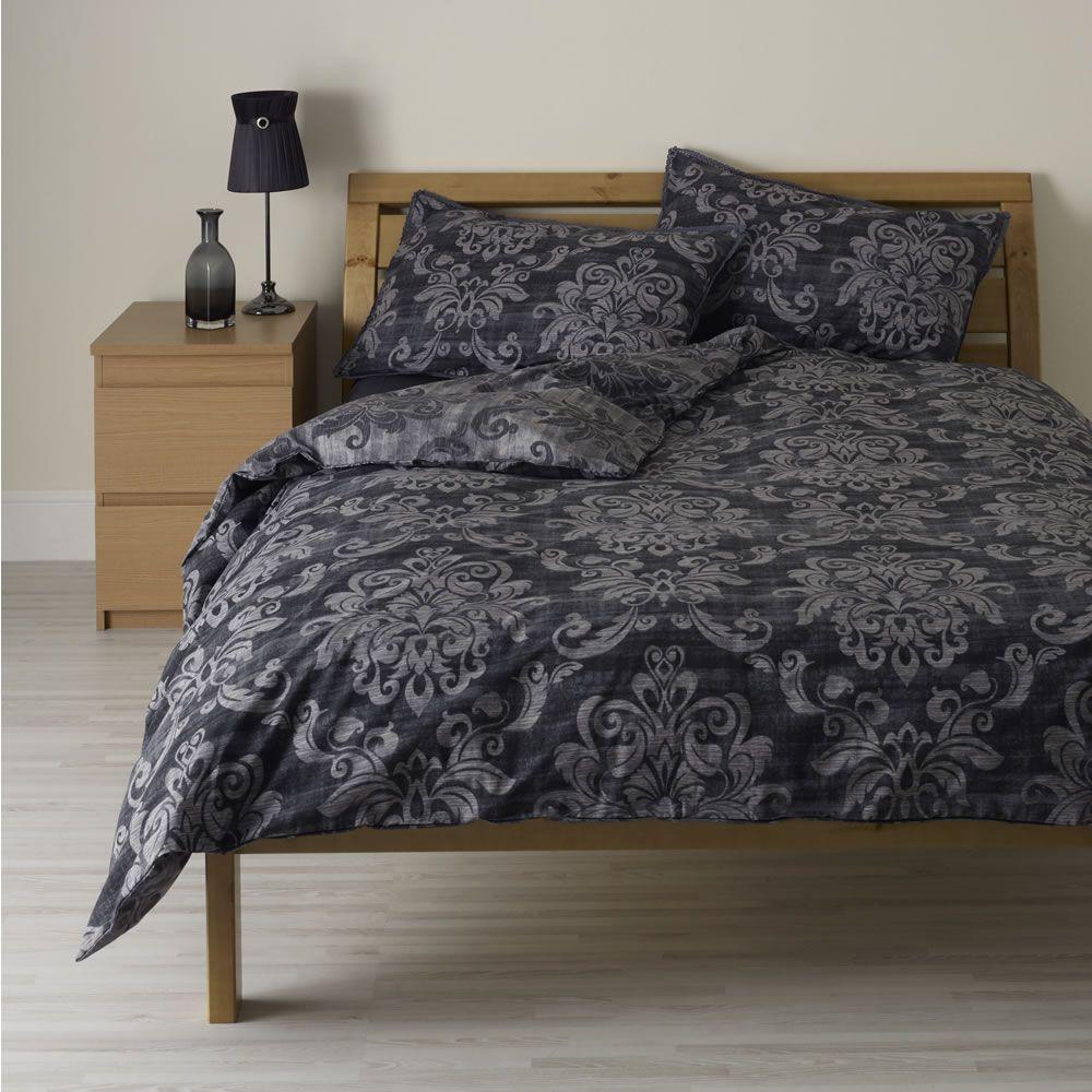 Wilko Damask Duvet Set Black Kingsize Interior Inspiration Bedroom Duvet Sets Bedding Essentials