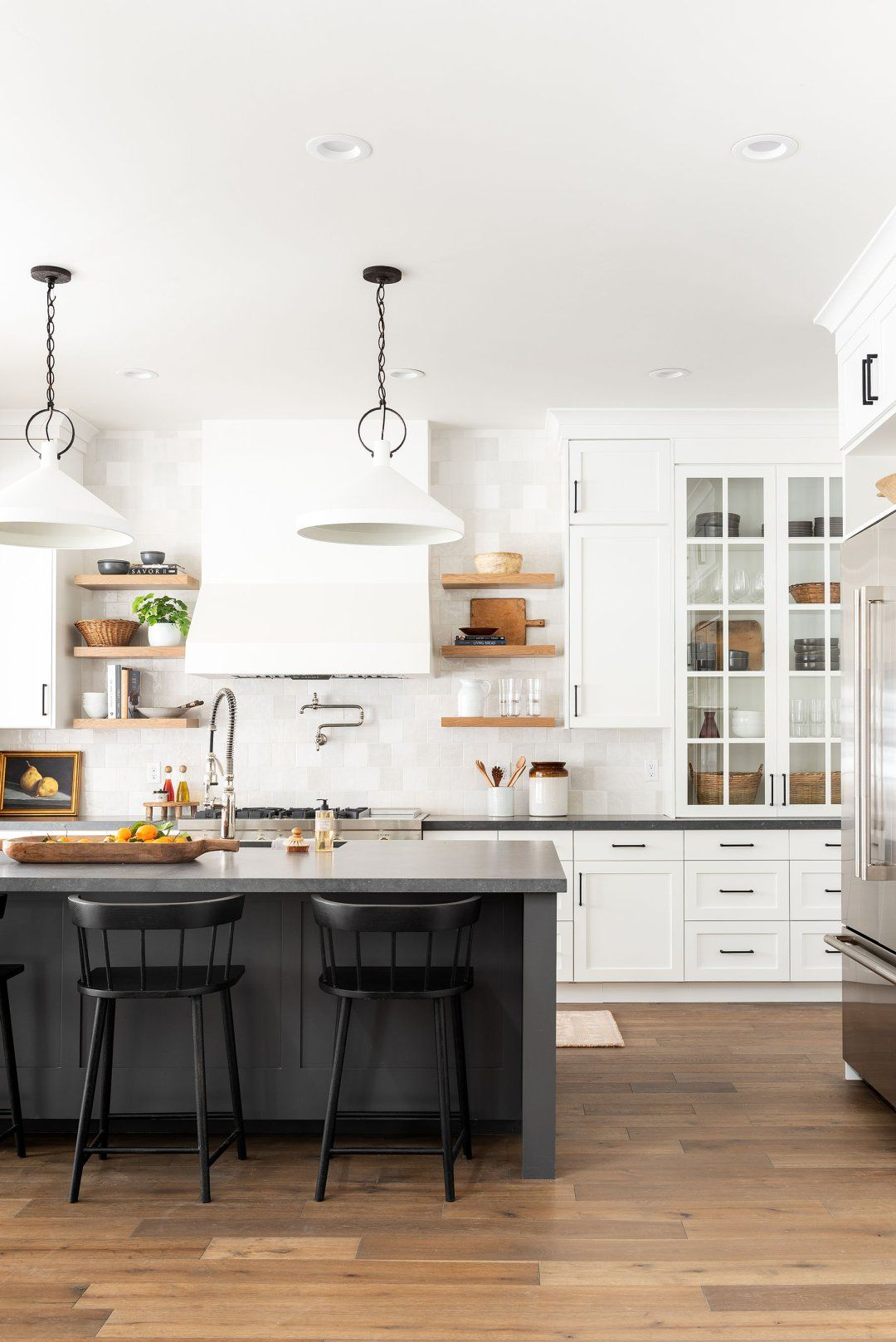 Black & White Transitional Kitchen in 2020 Latest
