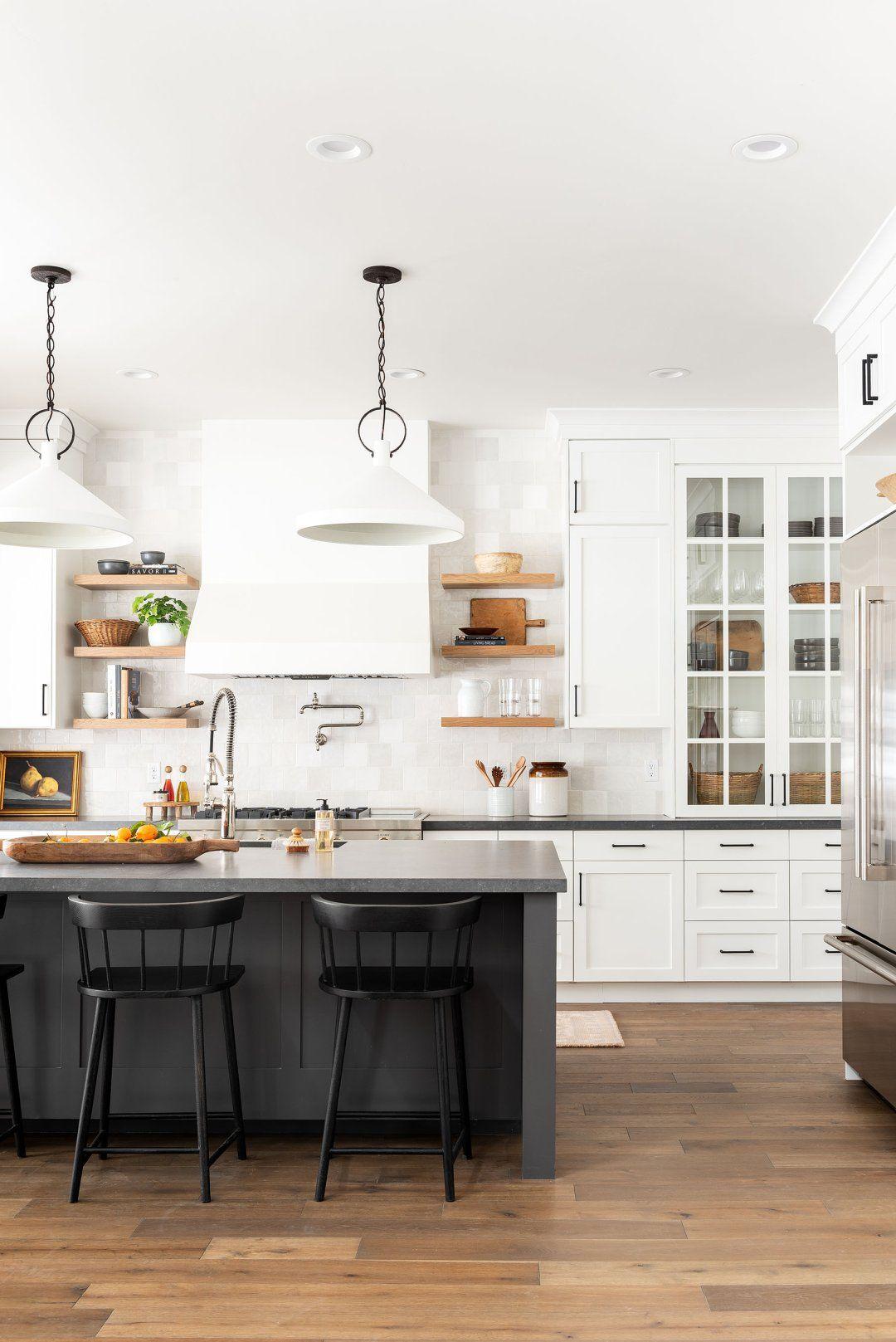 Black & White Transitional Kitchen in 2020 Latest