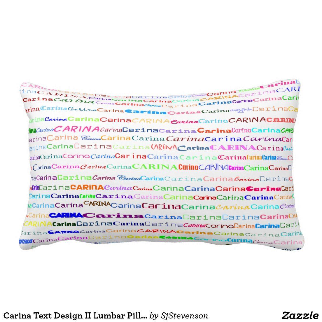 Carina Text Design II Lumbar Pillow