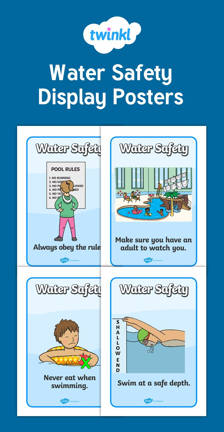 A set of useful water safety display posters, perfect to