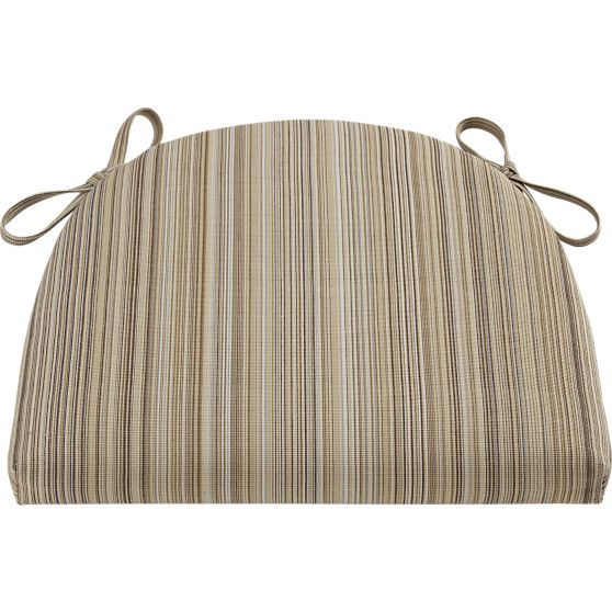 Kipling-Vintner Latte Stripe Cushion in Bar Stools | Crate and Barrel
