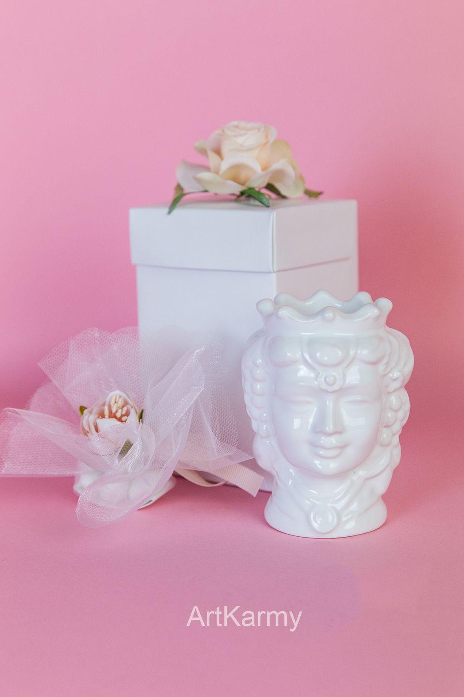 Costo Bomboniere Matrimonio.Bomboniere Matrimonio Teste Di Moro In Ceramica H 13 Cm Colore