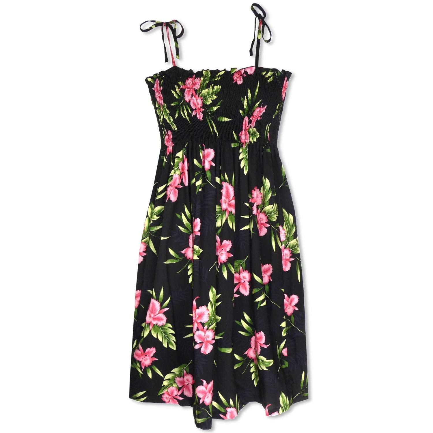 Midnight Moonkiss Hawaiian Dress #hawaiiandress #floraldress