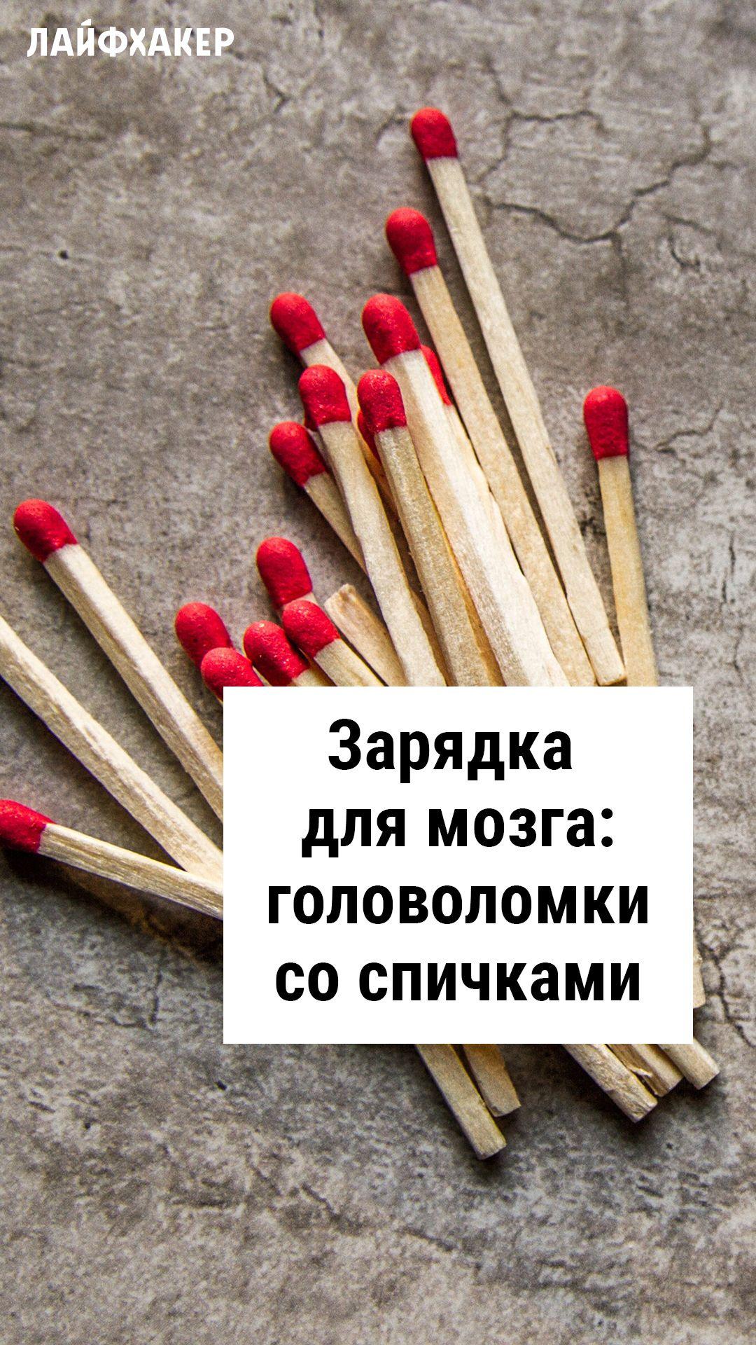 Zaryadka Dlya Mozga Golovolomki So Spichkami Rebusy Golovolomki Razvivayushie Uprazhneniya Rebusy