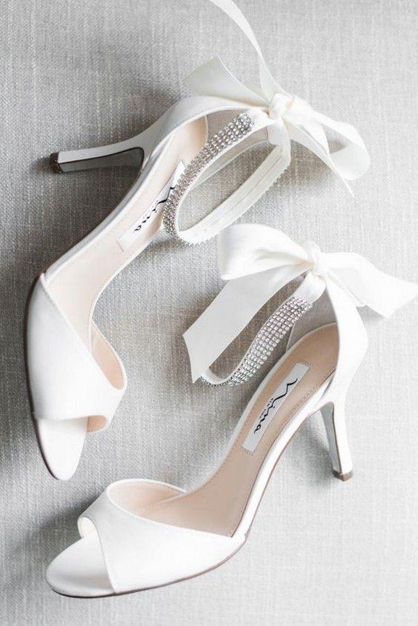 White Peep Toe Low Heel Wedding Shoes Wedding Weddings Weddingideas Weddingheels Heels W Wedding Shoes Heels Wedding Shoes Comfortable White Wedding Shoes