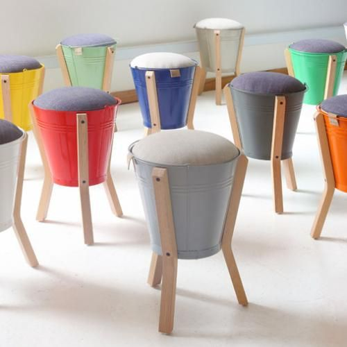 Funky Bucket Stool - Pedersen & Lennard - Cape Town, South Africa. Various  Colours - Funky Bucket Stool - Pedersen & Lennard - Cape Town, South Africa