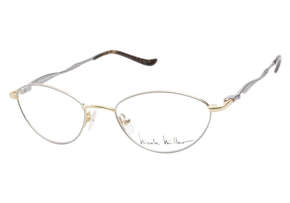 Nicole Miller Chenille Gunmetal Eyeglasses Have A Distinguished