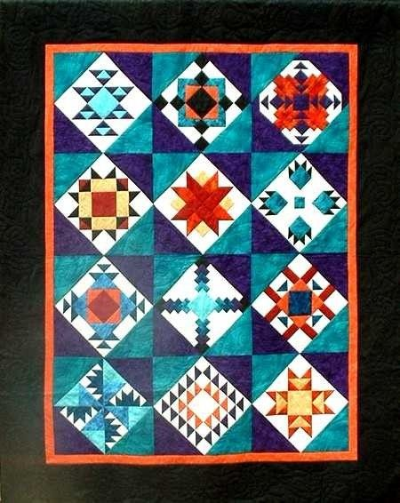 Southwest Sampler With Lots Of Turquoise Quilts Native American Quilt Native American Quilt Patterns