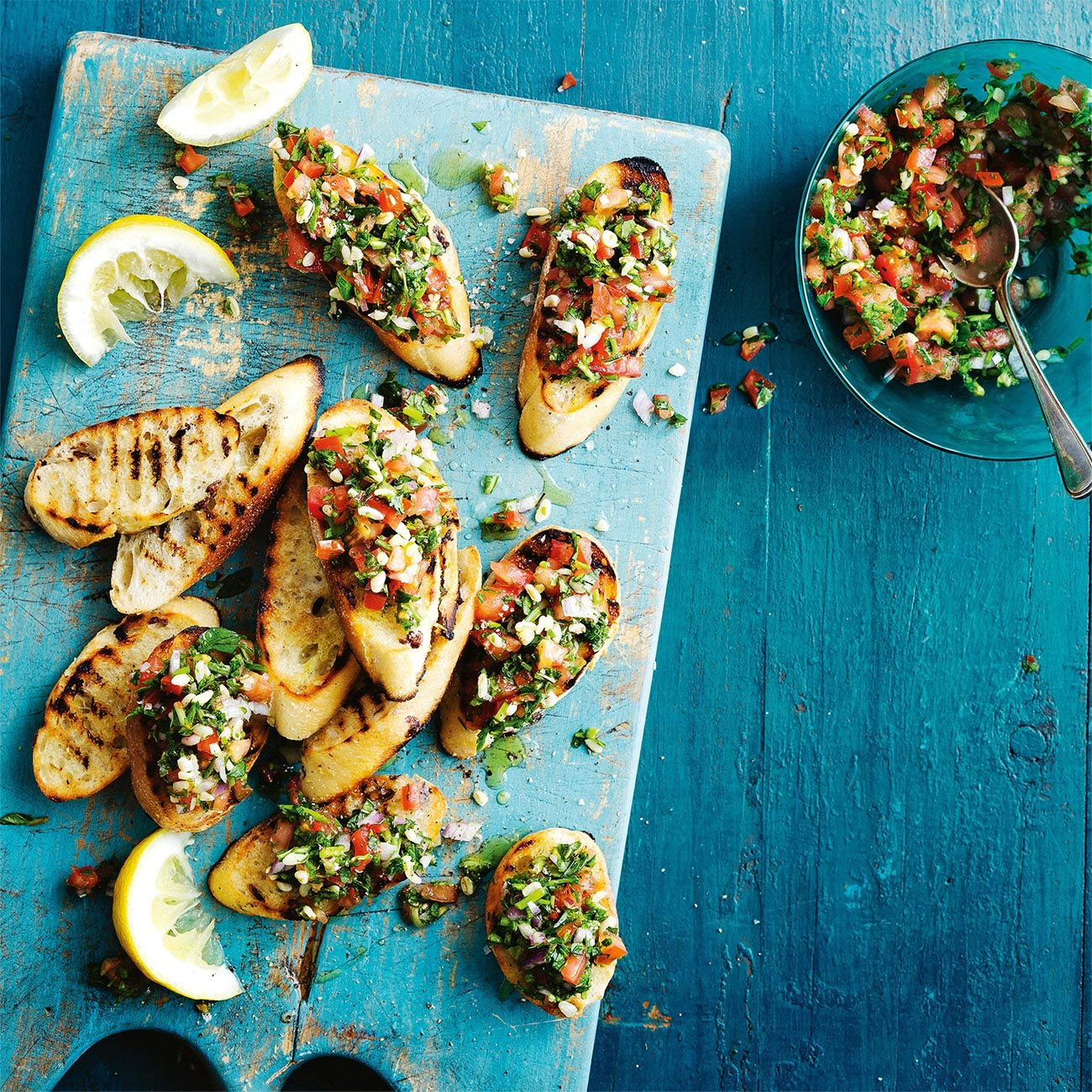 Bruschetta Topped With Tabouleh